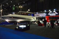 The most comprehensive and largest meeting of the maritime sector Istanbul 14. Cnr Eurasia Boat Show 2019 opened its doors splendi. Cnr Expo held in Yesilkoy 14 royalty free stock photo