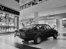 Most, Czech republic - March 18, 2017: Opel Kadett 1,2S coupe of 1978 in department store Stock Photography