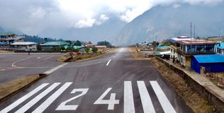 Nepal, Airport Lukla, the most dangerou in the world. royalty free stock photography