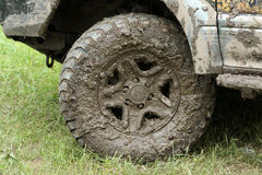 Most dirty wheel Royalty Free Stock Photo