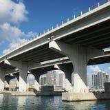 most do Miami. Obraz Stock