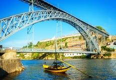 Most Dom Luis, Portugalia Obrazy Stock