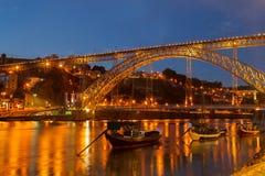 Most Dom Luis, Portugalia Zdjęcie Stock