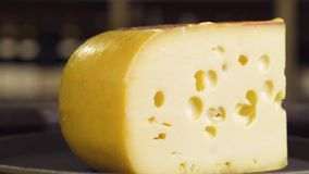 Most of the Dutch cheese. Sliced cheese stock video