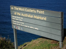 Most Easterly Point of the Australian Mainland. The Most Easterly Point of the Australian Mainland stock photos