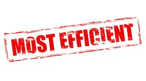 Most efficient. Stamp with text most efficient inside,  illustration Stock Image