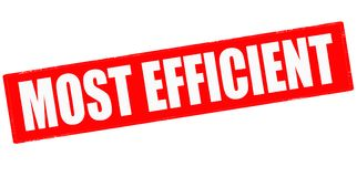 Most efficient. Stamp with text most efficient inside,  illustration Royalty Free Stock Images