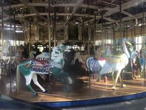 The Herschel-Spillman Carousel at the Koret Children& x27;s Playground, Golden Gate Park, 2. This most enchanting carousel, where every one of the 62 animal royalty free stock photos
