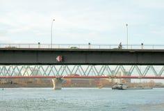 Most Europa między Niemcy i Francja Fotografia Stock