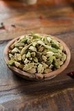 Most expensive spice in the world – dried green cardamom pods Stock Image
