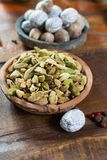 Most expensive spice in the world – dried green cardamom pods Royalty Free Stock Image