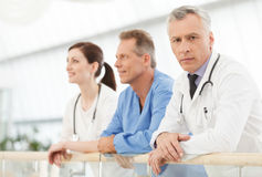 He is the most experienced and talented doctor. Confident mature Royalty Free Stock Images