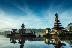Pura Ulun Danu Beratan. The most expressive temple on Bali in Bedugul Royalty Free Stock Photos
