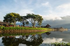 Pura Ulun Danu Beratan. The most expressive temple on Bali in Bedugul Royalty Free Stock Photo
