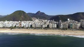 The most famous beach in the world. Wonderful city. Paradise of the world. Copacabana Beach in Copacabana district, Rio de Janeiro. Brazil. South America stock video