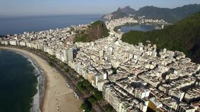 The most famous beach in the world. Wonderful city. Paradise of the world. Copacabana Beach in Copacabana district, Rio de Janeiro. Brazil. South America stock footage