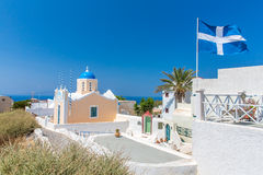 The most famous church on Santorini Island,Crete, Greece.  Stock Images