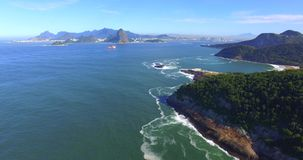 The most famous city in the world. Rio de Janeiro city. Brazil South America stock footage