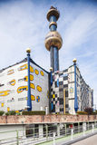 The most famous District heating in Vienna, Austria. Hundertwasser Royalty Free Stock Images