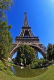 The most famous - the Eiffel Tower Stock Images