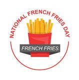 National French Fries Day for food lovers stock illustration