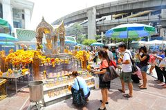 He most famous gold Brahma in Thailand. Stock Images