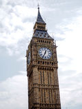 The most famous London landmark Big Ben clock tower with blue sky Stock Photography