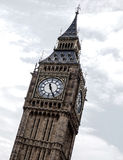 The most famous London landmark Big Ben clock tower with blue sky Royalty Free Stock Photo