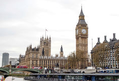 The most famous London landmark Big Ben, London, UK Royalty Free Stock Photos
