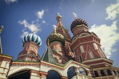 Most famous Russian Cathedral on the Red Square Stock Photos