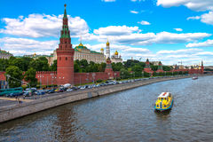 Most famous Russian landmark historical fortress Kremlin. This is the symbol of the Russian capita Stock Images