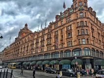 Harrods in London stock photography