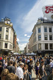 The most famous street in Oslo, Norway Royalty Free Stock Image