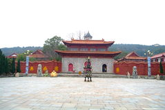 Most famous temple in china. This is the birthplace of Buddhism in China,donglin temple royalty free stock photos