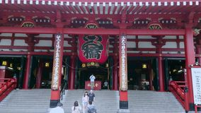 Most famous temple in Tokyo - The Senso-Ji Temple in Asakusa - TOKYO / JAPAN - JUNE 12, 2018. Most famous temple in Tokyo - The Senso-Ji Temple in Asakusa stock video footage