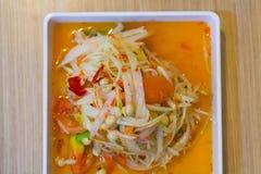 Famous Thai food, papaya salad or what we called `Somtum` in Thai. Most Famous Thai food, papaya salad or what we called `Somtum` in Thai Royalty Free Stock Image