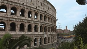 The most famous tourist attractions in Rome - The Colosseum - Colosseo di Roma stock footage