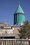 The most famous tower of Mevlana museum in Konya, Turkey Stock Images