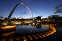 most Gateshead tysiąclecia Fotografia Royalty Free