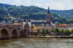Most Heidelberg, Niemcy Obrazy Royalty Free