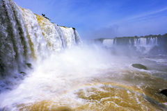 The most high-water waterfall - Iguazu Royalty Free Stock Photo