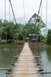 Most i droga po środku jeziora Obrazy Stock