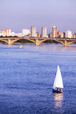 Most i jacht w Kyiv, Ukraina Obrazy Royalty Free