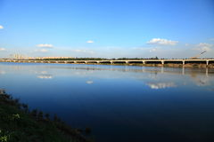 Most i niebo Zdjęcia Stock