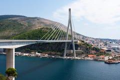 Most i port w Dubrovnik Fotografia Royalty Free
