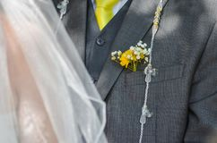 Groom and bride. The most important moment for the couple until now Royalty Free Stock Images