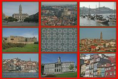 Porto collage Royalty Free Stock Image