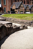The most important Roman feature is the amphitheatre just outside the walls which is undergoing archaeological investigation Royalty Free Stock Images