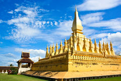 The most important stupa of Laos Stock Photos