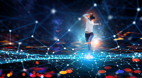 Most impressive entertainment technologies. Mixed media Royalty Free Stock Images